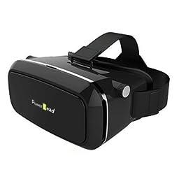 PowerLead Psug G0009 3D VR Glasses Virtual Reality Headset (Black)