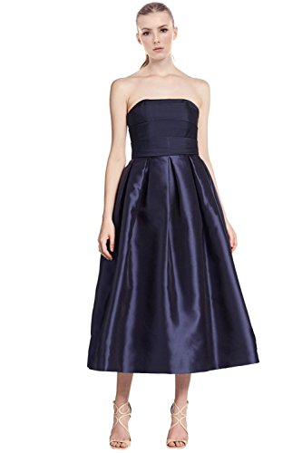 ml-monique-lhuillier-strapless-faille-pleated-cocktail-evening-dress