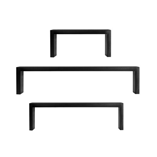 U-shaped Floating Shelf Black