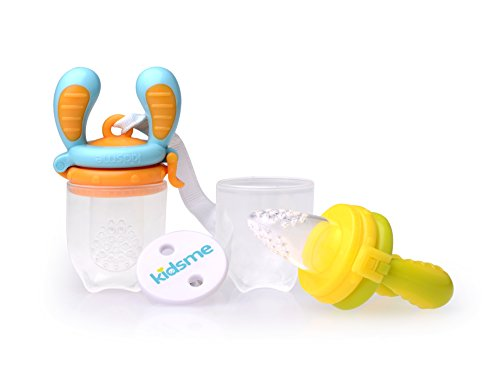 Kidsme Food Feeder Double Pack with Clip (Large size)