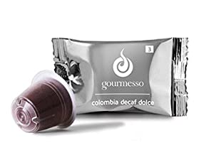 Shop for 10 Colombia Decaf Dolce (Intensity 3), Nespresso ® compatible Coffee Pods (0.23GBP/Capsule) - Gourmesso