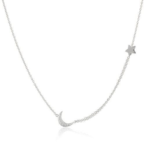 "MELINDA MARIA ""Galaxy Collection"" Baby Moon & Star Necklace"