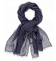 Autograph Lightweight Linen Blend Scarf with Silk