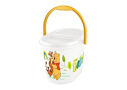 """keeeper 11800100084 karol """"winnie the pooh"""" windeleimer mit deckel und tragegriff weiß"""