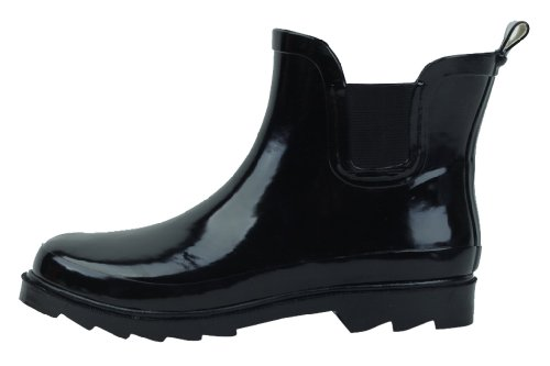 Women's Short Ankle Black Rubber Rain Boots Size 11 (Rain Shoes For Women Size 11 compare prices)
