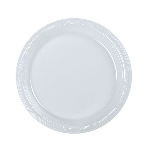 Hanna K. Signature Collection 50 Count Plastic Plate, 7-Inch, Clear - 1