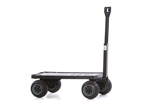 Mighty Max Cart FB600A/BG Flatbed Yard Cart with All-Terrain Weatherproof Wheels (Trash Can Hauler compare prices)