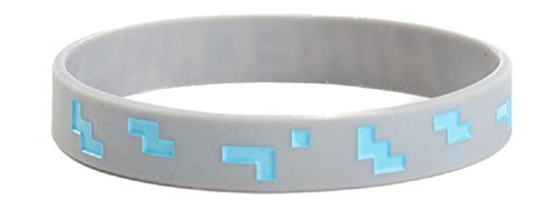 Minecraft Diamond Bracelet, Medium, Gray