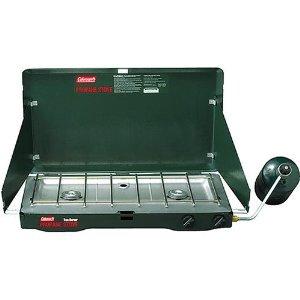 Coleman Two-Burner Propane Stove & Mini Tool Box (ml)