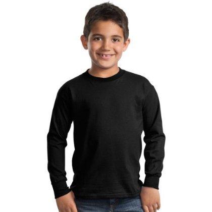 Port & Company Youth Heavyweight Long-Sleeve T-Shirt_Jet Black_X-Small