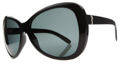 Electric Magenta Sunglasses Gloss Black Grey Polarized