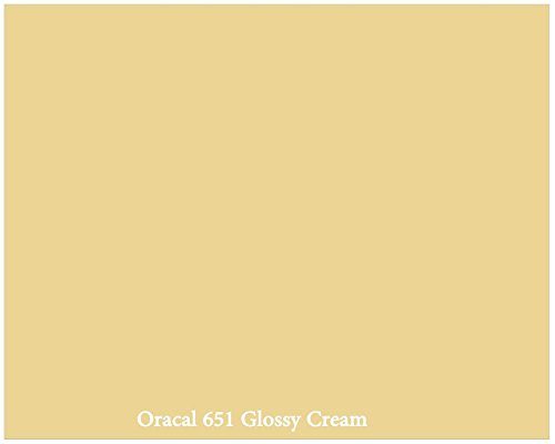 "12"" X 10 Ft Roll Of Glossy Oracal 651 Cream Repositionable Adhesive-Backed Vinyl For Craft Cutters, Punches And Vinyl Sign Cutters By Vinylxsticker front-962763"