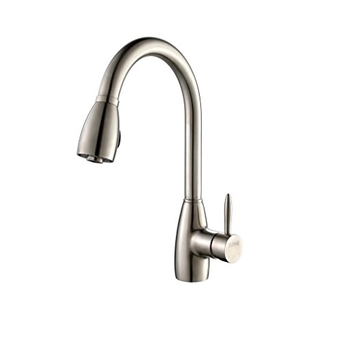 Zuhne Della Stainless Steel Pull Out Water Saving Kitchen Faucet