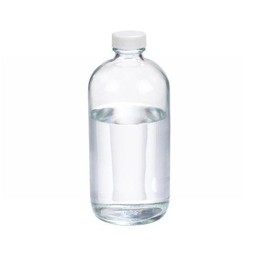 wheaton-w216810-boston-round-bottle-clear-glass-capacity-16oz-with-28-400-white-polypropylene-ptfe-f