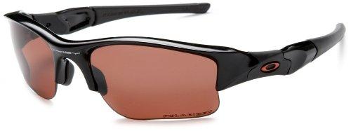Oakley Men'S Flak Jacket Xlj Polarized Sunglasses,Jet Black Frame/Vr28 Lens,One Size
