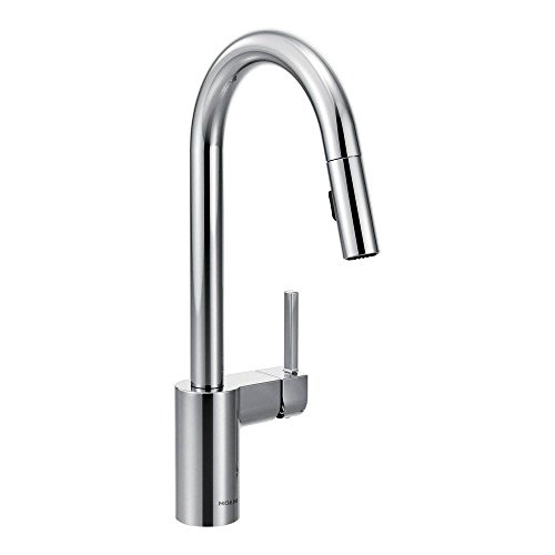 Moen 7565 Align One-Handle High Arc Pulldown Kitchen Faucet, Chrome (Moen Kitchen Faucet Deck Plate compare prices)