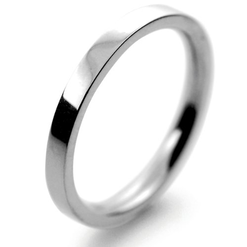 Platinum Wedding Ring Flat Court Medium - 2mm