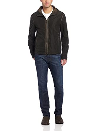 (新品)高端John Varvatos 男士连帽保暖外套Hooded Jacket With Contrast $101.57