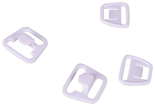 "Big Save! Porcelynne White Plastic Maternity Clip 1/2"" or 14mm 2 sets"