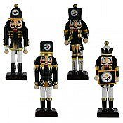 Pittsburgh Steelers 4 Pack Nutcracker Ornaments at Steeler Mania