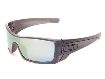 New Oakley Batwolf 9101-37 Matte Black Ink/Emerald Iridium Lens 65mm Sunglasses