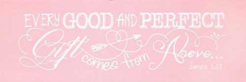 Dicksons Baby Girl Wall Plaque, Every Good and Perfect Gift James 1:17/Pink (Every Good And Perfect Gift compare prices)