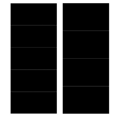 Wallies 16044 Rectangle Peel and Stick Chalkboard Labels - 1