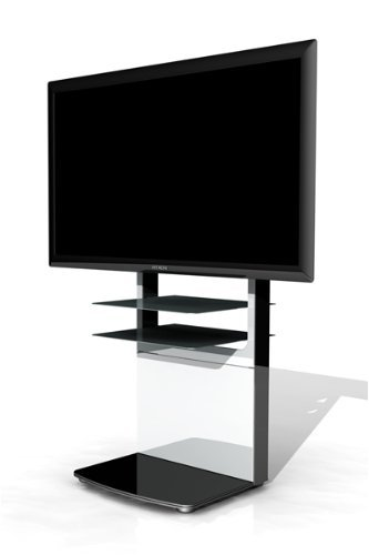 Mountech Universal Floor Stand for 32-52-Inch LCD and Plasma Screens Black and Pearlescent White Glass Finish... Black Friday & Cyber Monday 2014