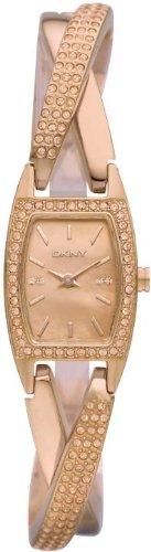 DKNY Rose Gold-Tone Crossover Ladies Watch NY8595