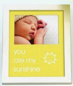 Pearhead - sentiment frame - you are my sunshine - yellow - 70176 - 1