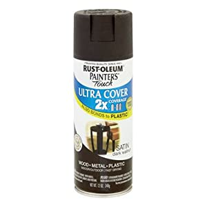 "Rust-Oleum Corp/Zinsser 257462 ""Painter's Touch"" 2X Ultra Cover Spray Paint 12 Oz - Satin Dark (Pack of 6)"