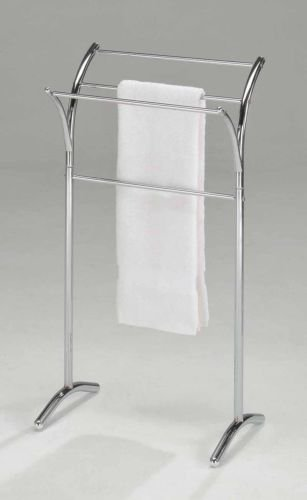 Kings Brand Chrome Finish Towel Rack Stand , New, Free Shipping (Floor Standing Towel Rack compare prices)