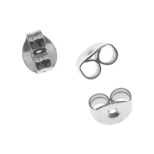 Surgical Steel Earring Backs (Earnuts) (100) Picture