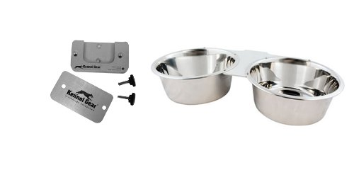 Kennel-Gear Double Bowl With Stainless Steel Yoke, 2-Quart front-810672
