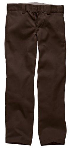 Dickies S/Stght Work Pant, Pantaloni da Uomo, Marrone (Chocolate Brown), 33W/32L (Taglia Produttore: 33/32)