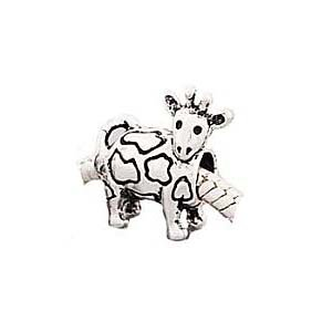 Silver Plated (179) Deer Shape Charm, will fit Pandora/Troll/Chamilia Style Charm Bracelet.