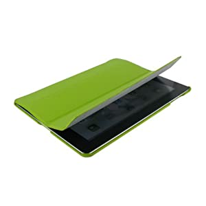 rooCASE Ultra Slim Leather Case for iPad 2 - Green