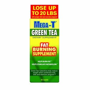 Mega-T Green Tea, Fat Burning Supplement, Caplets 90 Ea