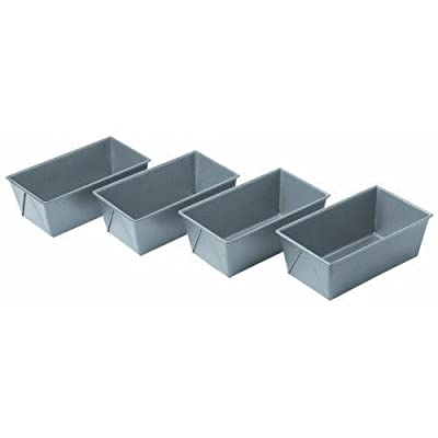 Chicago Metallic Commercial II Non-Stick Mini Loaf Pans Set of 4 New