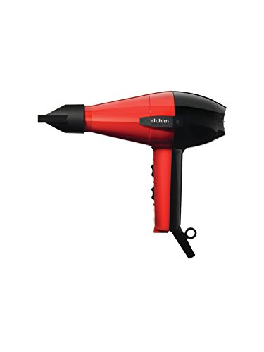 Elchim 2001 Classic High Pressure 1875 Watt Hair Dryer, Red & Black (Elchim Hair Dryer Light compare prices)
