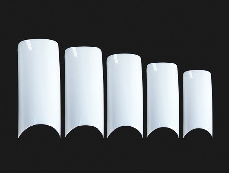 MoYou Nail Art 500 pcs of White French False Acrylic Nail Art Tips in 10 different sizes!