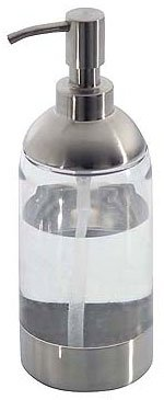 Forma Soap Dispenser (Stainless Steel/Clear) (8 1/2