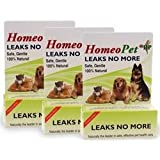 3 PACK HomeoPet Leaks No More (45 mL) ~ HomeoPet