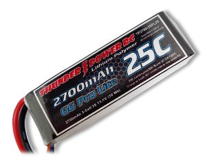 Thunder Power RC G6 Pro Lite 25C 2700mAh 3-Cell/3S 11.1V Lipo Battery