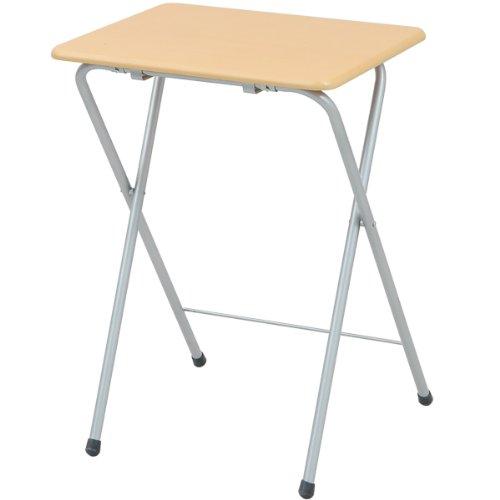 山善(YAMAZEN) 折りたたみミニテーブル(ハイ)テーブル サイドテーブル 折りたたみテーブル ナチュラル YST-5040H(NA/SG)