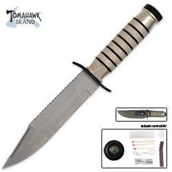 Tomahawk Brand Silver Blade Survival Knife
