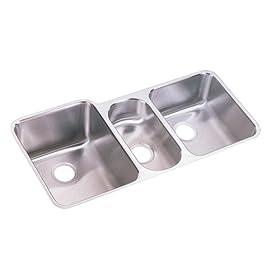 Elkay ELUH4020 Harmony Lustertone Undermount Sink, Stainless Steel