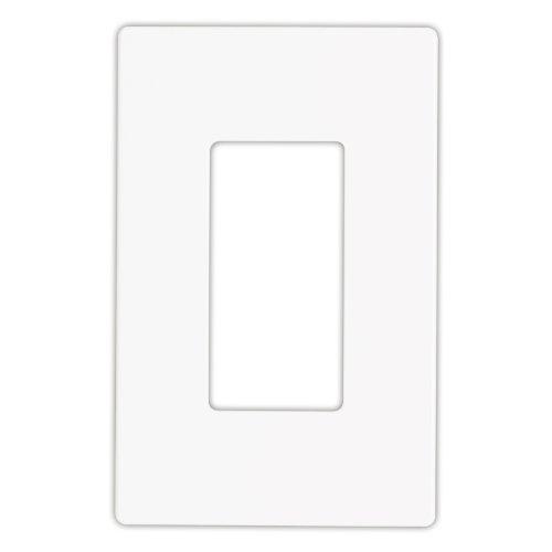 Cooper Wiring Devices 9521Ws Aspire Screwless Wallplate, 1-Gang, White Satin