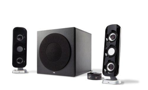 Cyber Acoustics Ca-3908 3 Piece Flat Panel Design Subwoofer And Satellite Speaker System (Ca-3908)