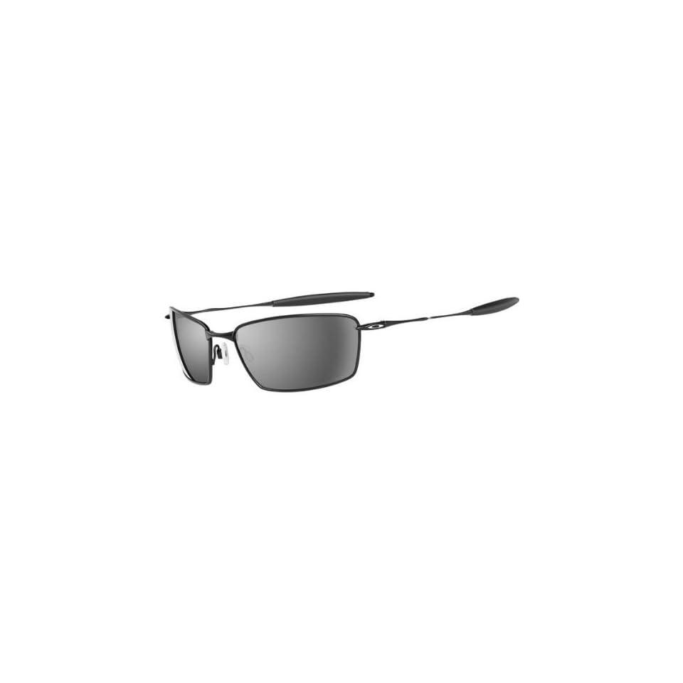 b0b1a307a57a Oakley Square Whisker Mens Polarized Active Sportswear Sunglasses w/ Free  B&F Heart Sticker Bundle Polished Black/Black Iridium / One Size Fits All